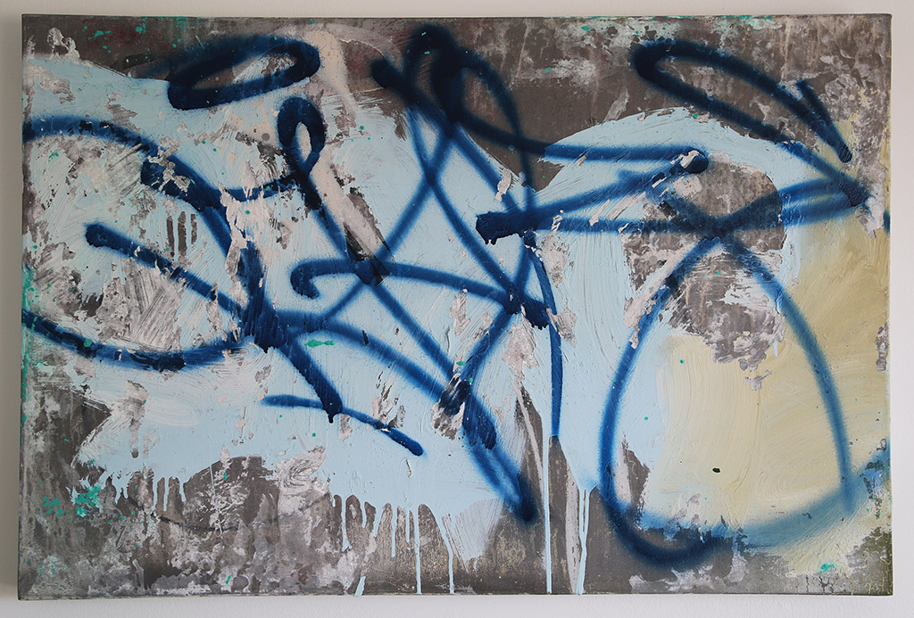 Jel Martinez Writings and Removals (Graffiti Tag) 36 x 24 Inches Mix Media on Canvas 2017_72dpi_rs